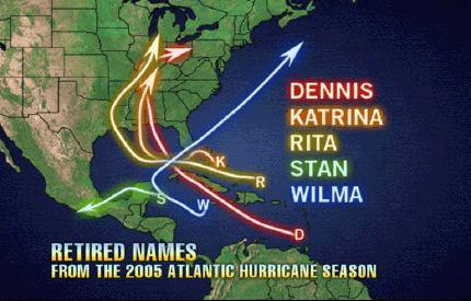 Click map for Atlantic and EPAC Hurricane Names